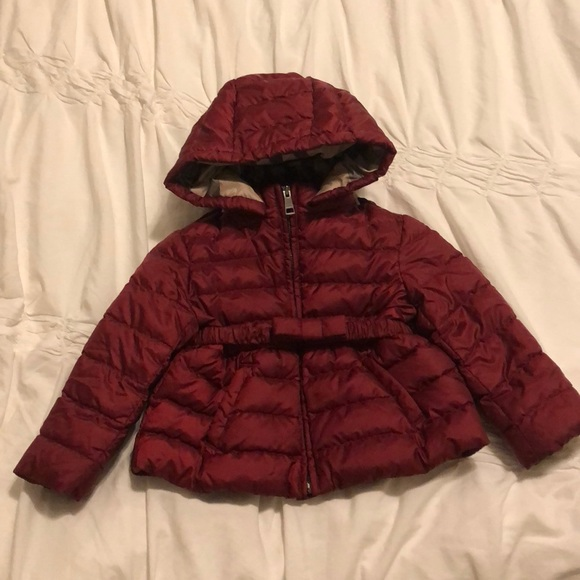 bc8047c58 Burberry Jackets & Coats | Authentic Baby Girl Puffer 12 Months ...